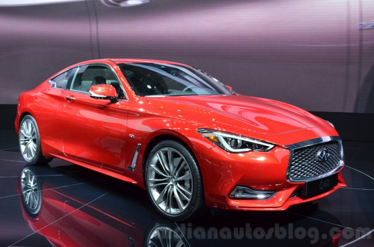 Infiniti Q60 at the 2016 Geneva Motor Show