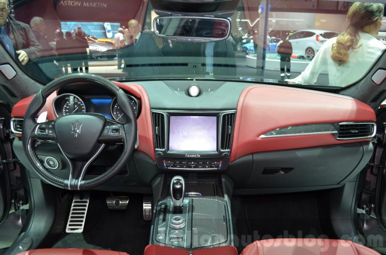 Maserati Levante dashboard at the 2016 Geneva Motor Show Live