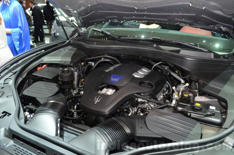 Maserati Levante engine bay at the 2016 Geneva Motor Show Live