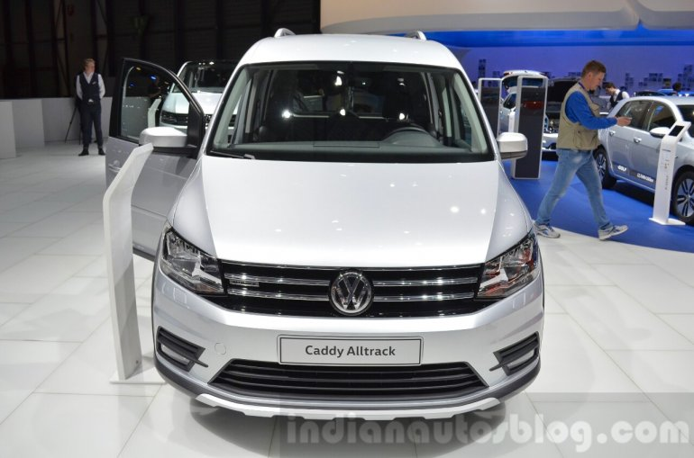 VW Caddy Alltrack front at the 2016 Geneva Motor Show