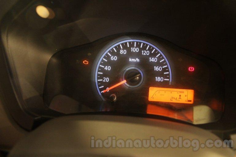 Datsun redi-GO intrument cluster unveiled