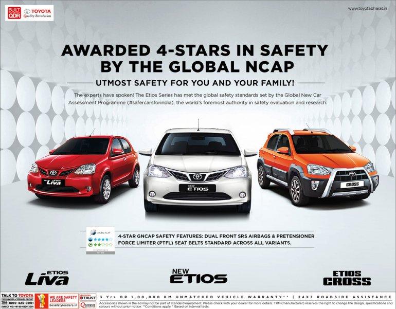 Toyota Etios safety rating GNCAP