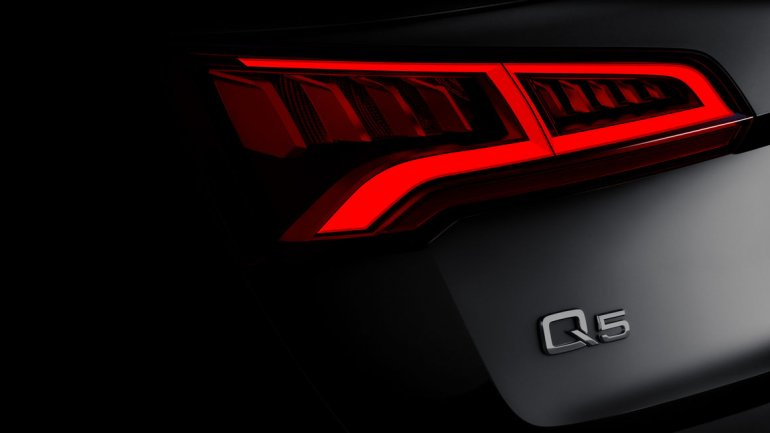 2017 Audi Q5 taillight teased