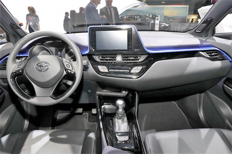 Toyota C-HR interior dashboard at the 2016 Paris Motor Show