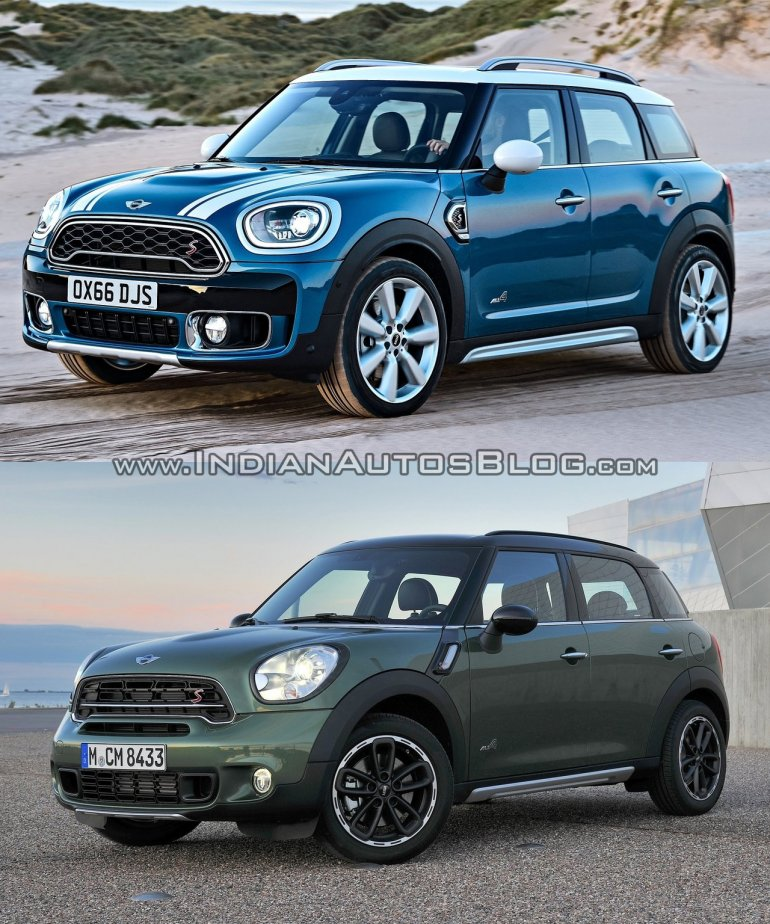 2017 Mini Countryman vs 2014 Mini Countryman front quarter