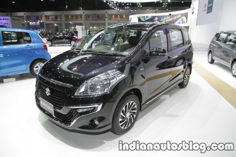 Suzuki Ertiga Dreza front three quarter at the 2016 Thai Motor Expo