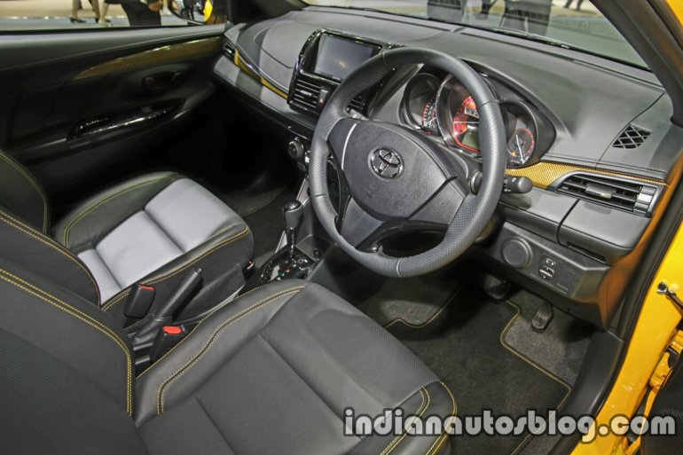 Toyota Yaris TRD Sportivo special edition dashboard at the Thai Motor Expo
