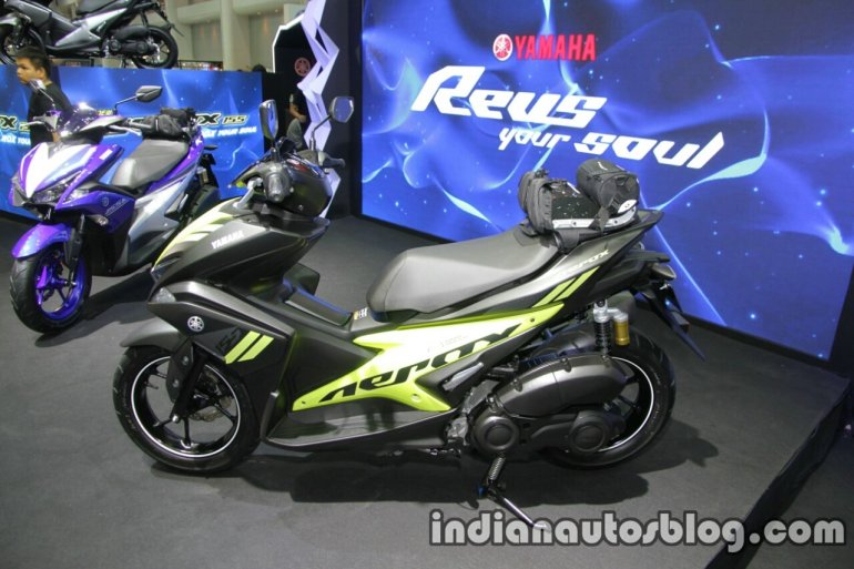 Yamaha Aerox155 side at Thai Motor Expo