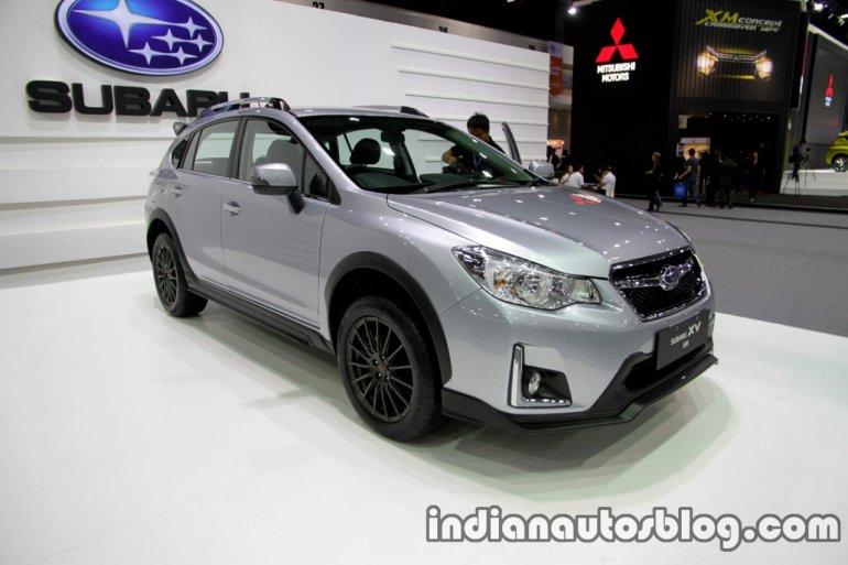 2016 Subaru XV STi (facelift) front three quarter at the Thai Motor Expo Live