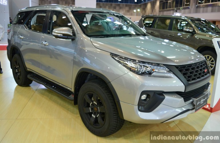2016 Toyota Fortuner TRD front three quarter in Oman
