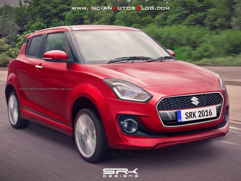 2017 Maruti Swift front IAB Rendering