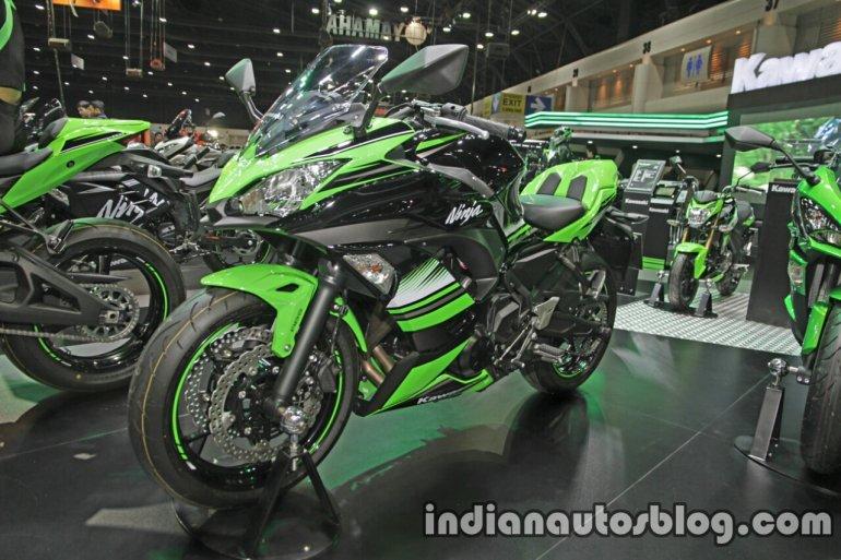 Kawasaki Ninja 650 front three quarter at Thai Motor Expo