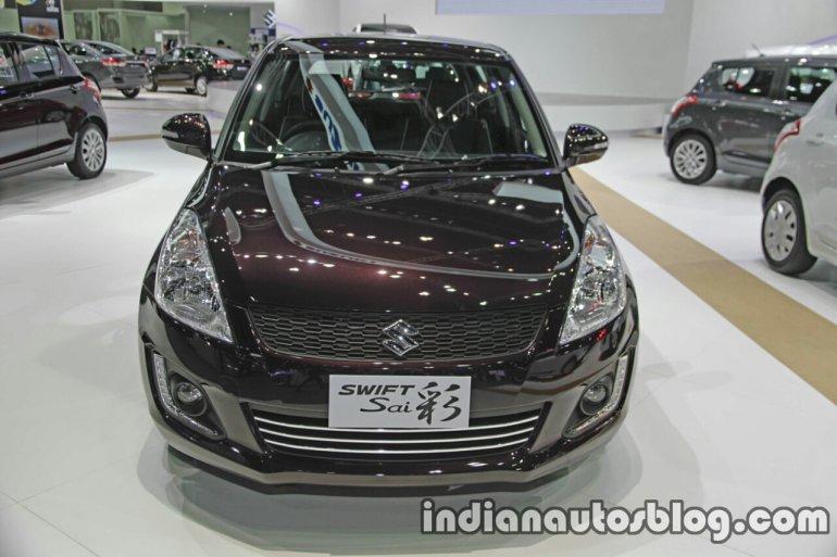 Suzuki Swift Sai Edition front at the Thai Motor Expo Live