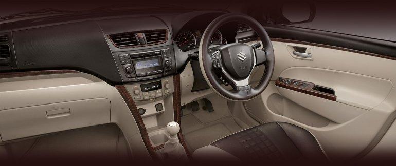 Limited Edition Maruti Swift Dzire Allure interior press image