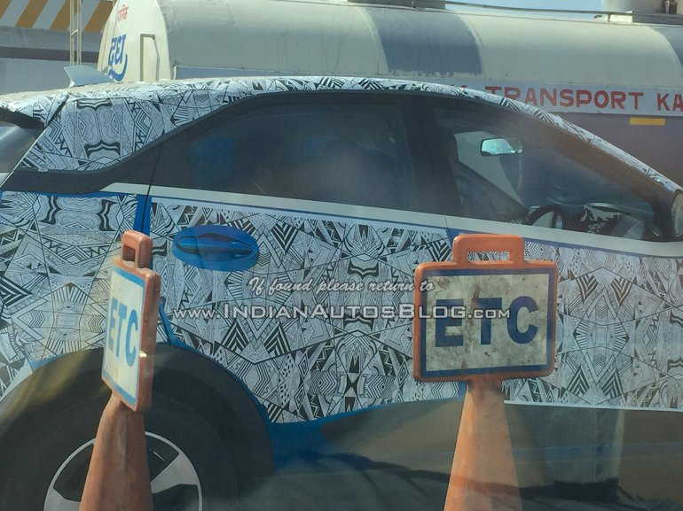 Tata Nexon roofline spied on test