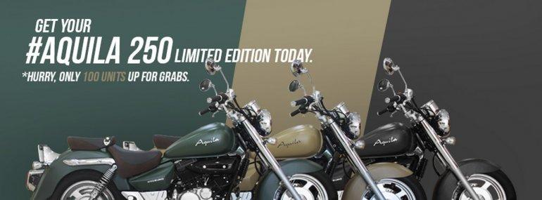 Hyosung Aquila 250 limited edition colour range