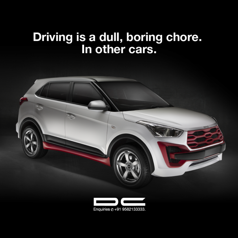 Hyundai Creta by DC Design front three quarters
