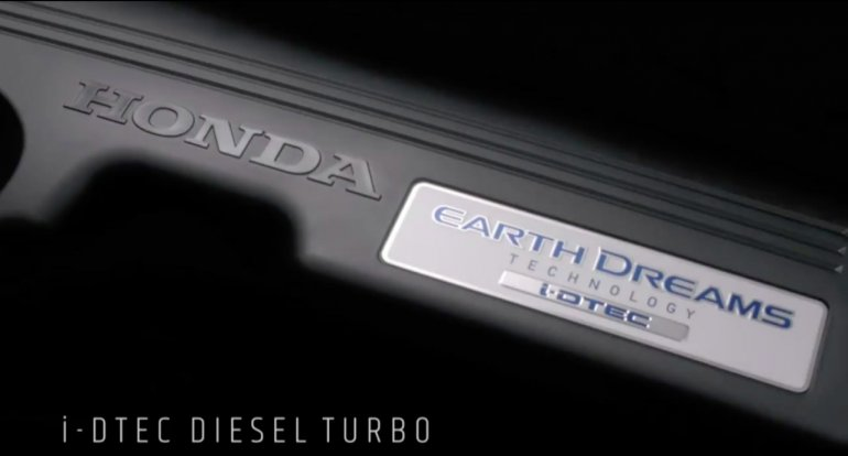 2017 Honda CR-V diesel engine teased Thailand