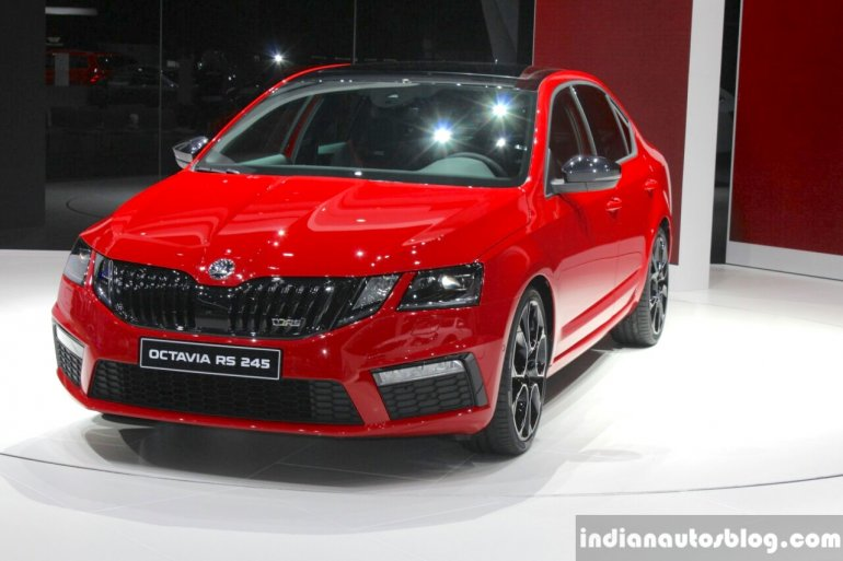 2017 Skoda Octavia RS 245 front quarter at the 2017 Geneva Motor Show
