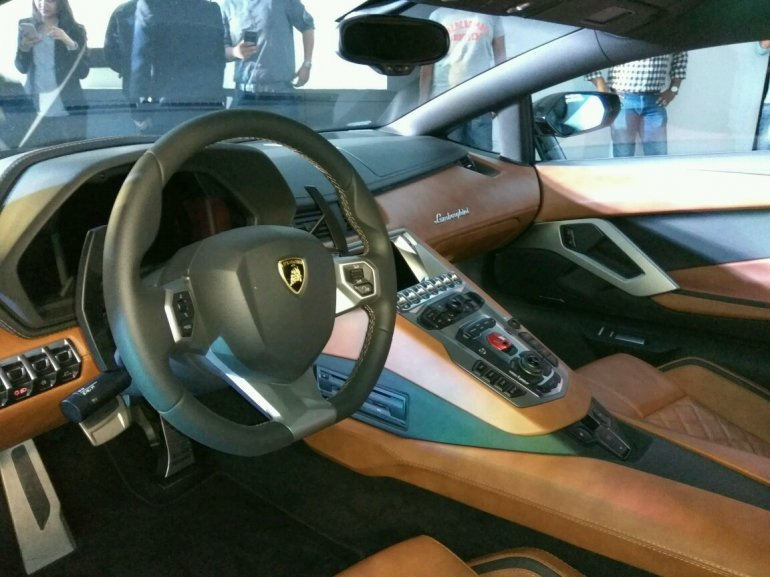 Lamborghini Aventador S interior LP740-4 launched