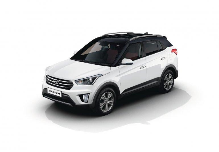 2017 Hyundai Creta with dual tone color option front three quarter press image