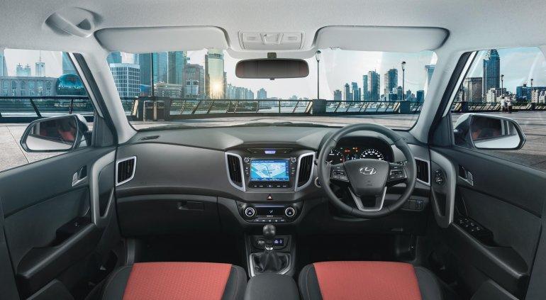 2017 Hyundai Creta with dual tone color option interior press image