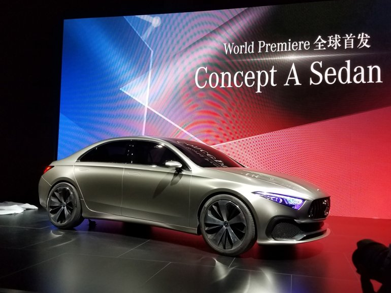 Mercedes Concept A Saloon front three quarter unveiled