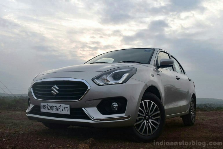 2017 Maruti Dzire front low First Drive Review