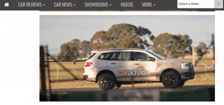 2018 Ford Endeavour (2018 Ford Everest) spied testing in Australia