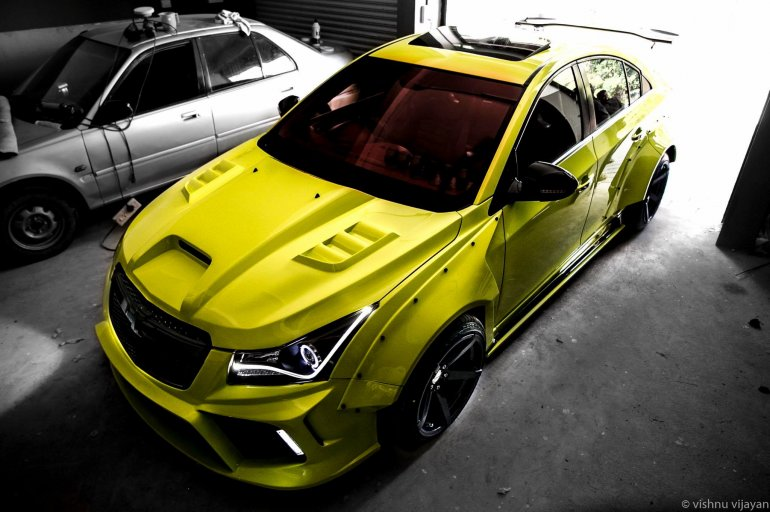Custom Chevrolet Cruze Hyperwide by 360 Motoring top view
