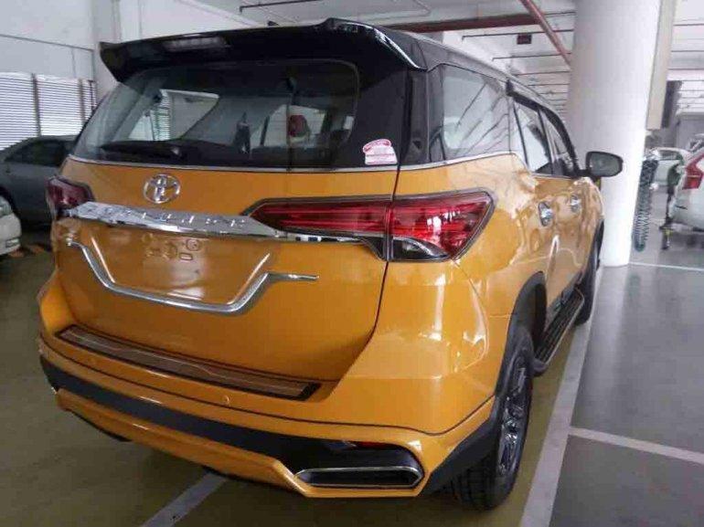 Custom Toyota Fortuner with new Nippon body kit rear quarter