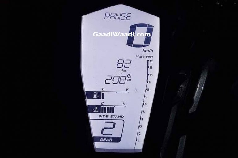 TVS Apache RR 310S instrumentation with white backlight