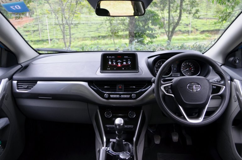 Tata Nexon Review Test Drive Dashboard