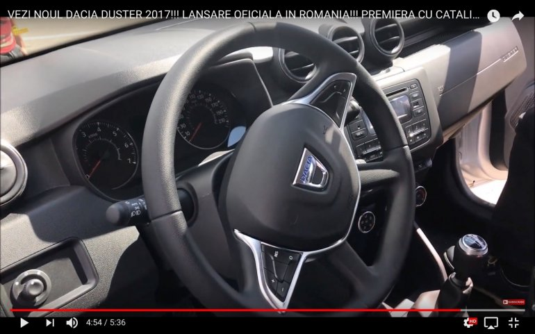 2018 Dacia Duster interior black