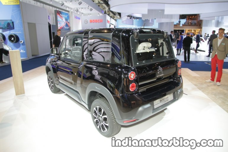 Citroen E-Mehari Styled by Courreges rear three quarters at IAA 2017