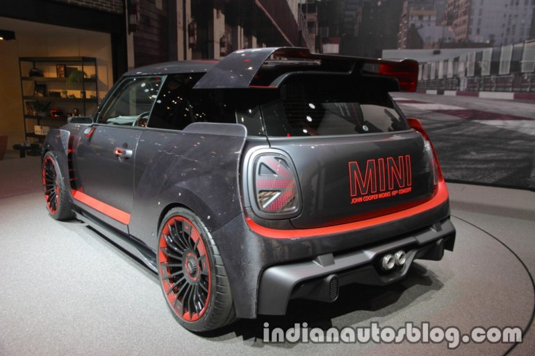 MINI John Cooper Works GP Concept rear three quarters left at IAA 2017