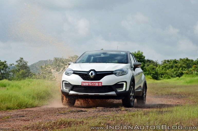 Renault Captur test drive review action shot water splash