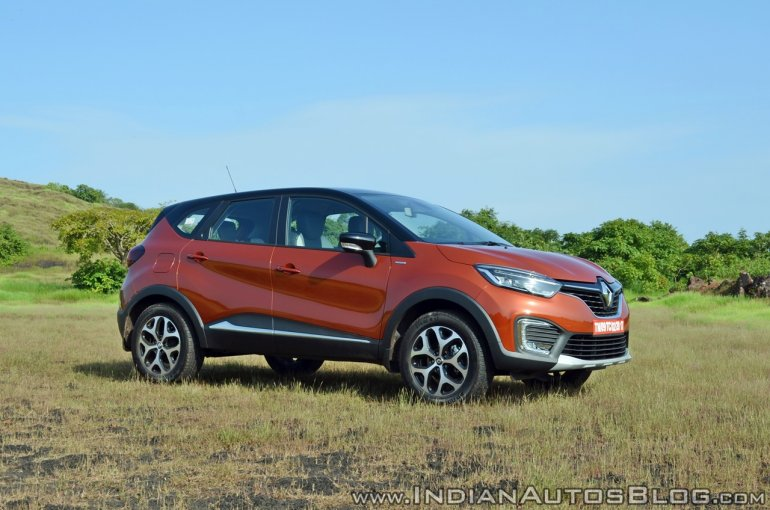 Renault Captur test drive review front three quarters