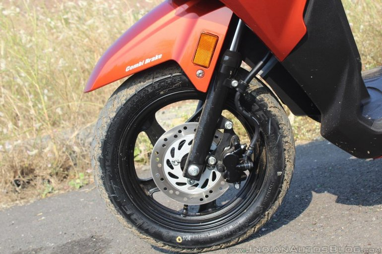 Honda Grazia first ride review front suspension and brake