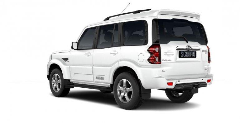Mahindra Scorpio 2017 facelift left rear three quarters