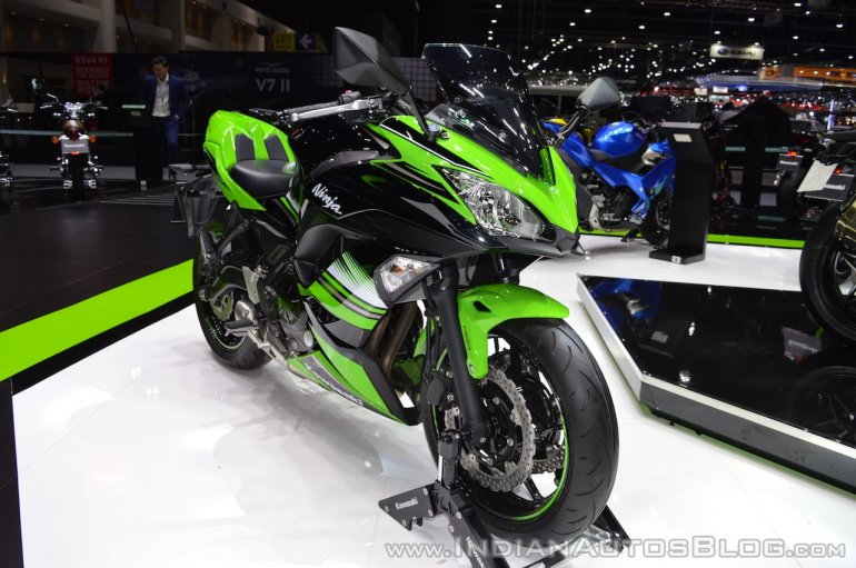 Kawasaki Ninja 650 KRT Edition front right quarter at 2017 Thai Motor Expo