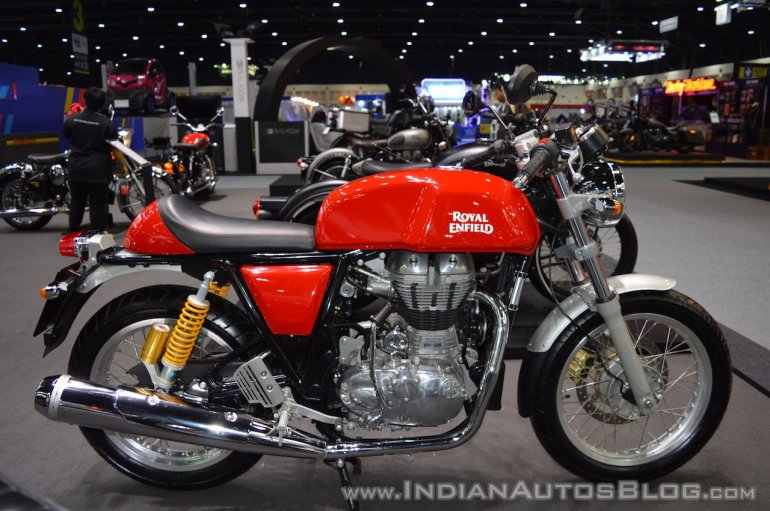 Royal Enfield Continental GT right side at 2017 Thai Motor Expo