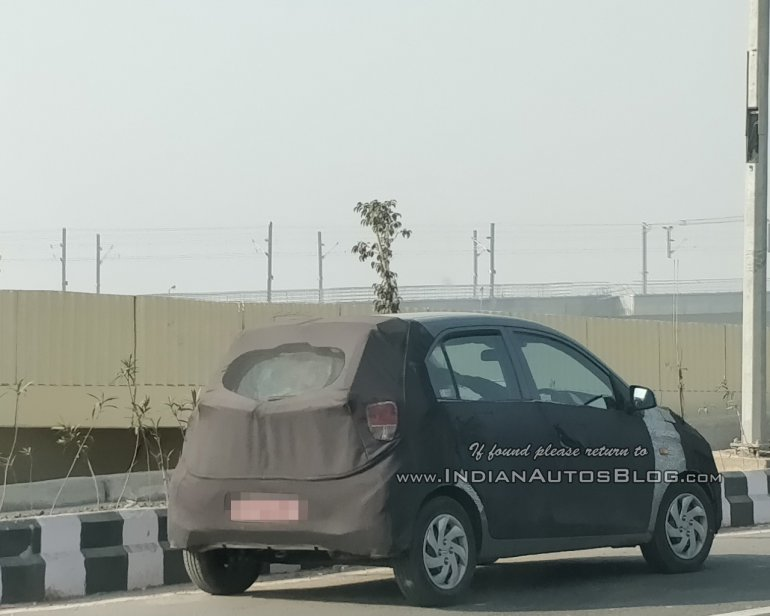 2018 Hyundai Santro (Hyundai AH2) rear three quarters right side spy shot