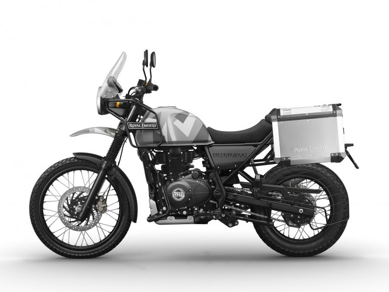 Royal Enfield Himalayan Sleet press shot left side