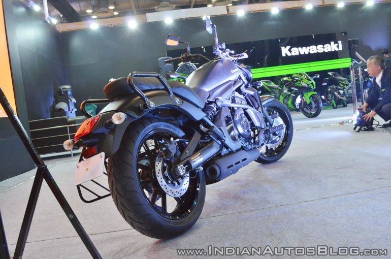 Kawasaki Vulcan S rear right quarter at 2018 Auto Expo