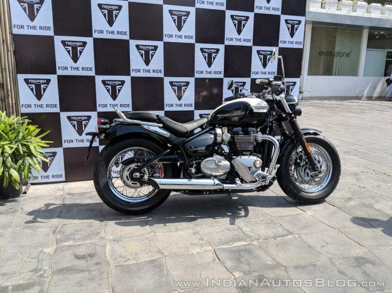 Triumph Motorcycles India Bonneville Speedmaster India launch right side