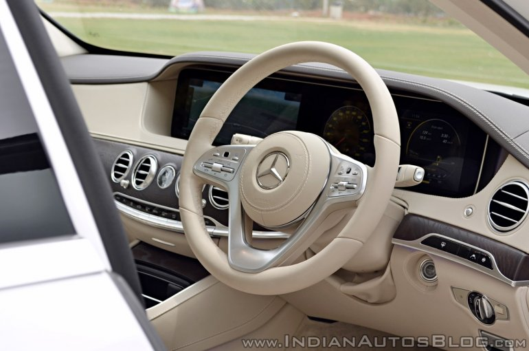2018 Mercedes-Benz S-Class review test drive steering wheel