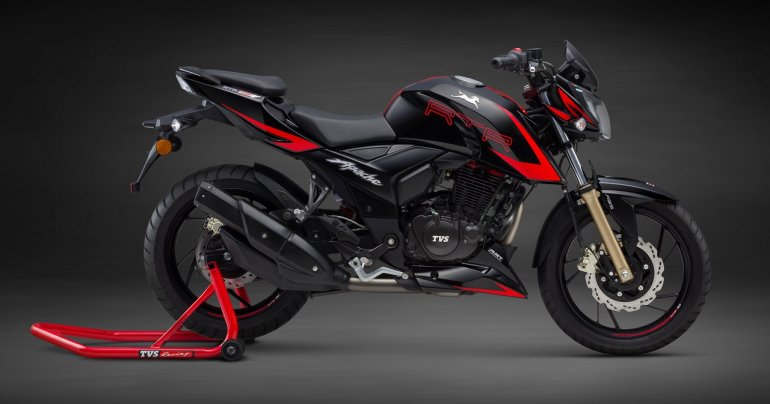 TVS Apache RTR 200 4V Race Edition 2.0 side view
