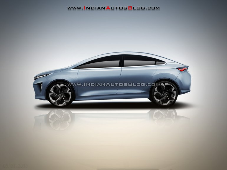 Tata 45X sedan concept - IAB Rendering