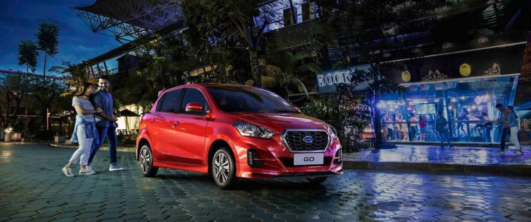 upcoming small cars in india in 12 months - 2018 Datsun GO (facelift) front live image